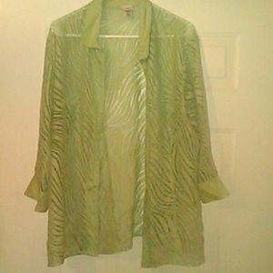 COVINGTON WOMEN'S SIZE 16-18 W BUTTON DRESS SHIRT